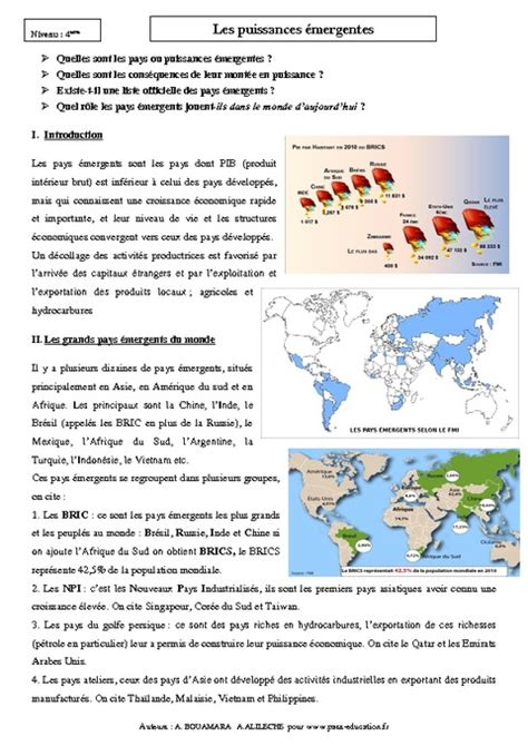 Resume Mondialisation by Resume Cours Sur La Mondialisation