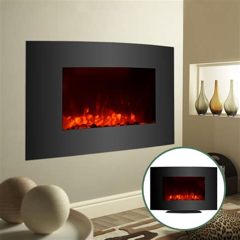 adjustable large 1500w electric fireplace heater wall