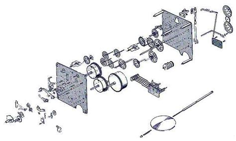 clock movement parts diagram 350 351 series hermle clock movements clockworks
