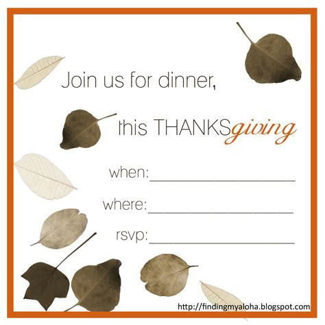 printable thanksgiving invitation finding my aloha 2011 s free thanksgiving invitations