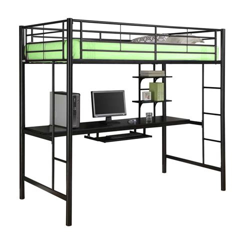 Metal Twin Loft Bed With Workstation In Bunk Beds Workstation Bunk Bed