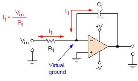 op integrator time constant integrator op output waveform