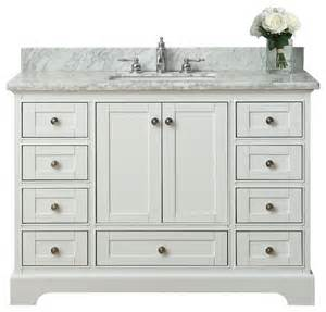 bath vanity set white transitional bathroom