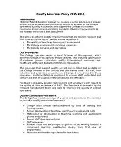 quality assurance policy template quality policy template 8 free word pdf documents