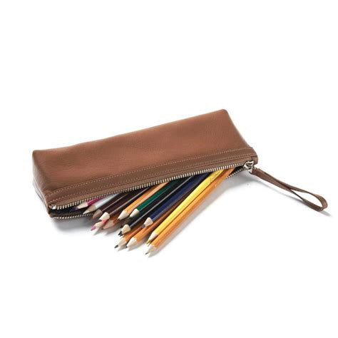 Pencil Pouch pencil pouch grain leather cognac