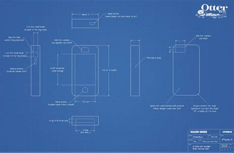 blueprint maker otterbox diy smartphone case