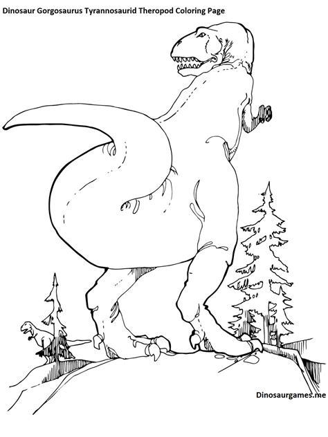 zoomer dino coloring page dinosaur gorgosaurus tyrannosaurid theropod coloring page