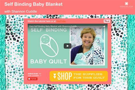 Missouri Quilt Company Tutorials Binding by Easy Cuddle Self Binding Baby Blanket Sewciety