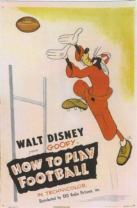 film cartoon football goofy football cartoon movie poster animation art