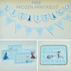 printable frozen party free frozen party printables set includes let it go