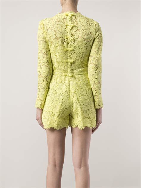 lyst valentino lace romper in green