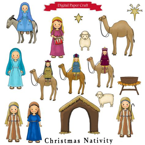 printable nativity scene characters nativity clipart christmas clipart christian clipart