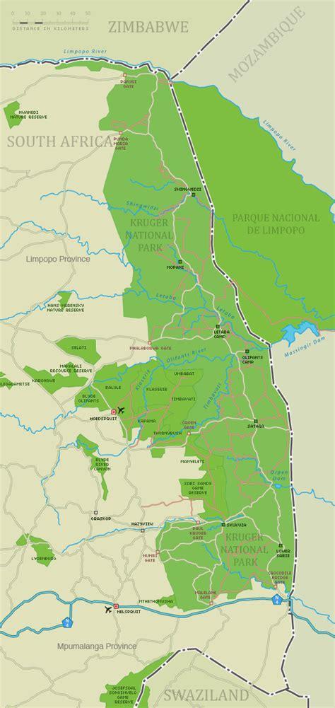 kruger national park map kruger national park map detailed map of kruger park