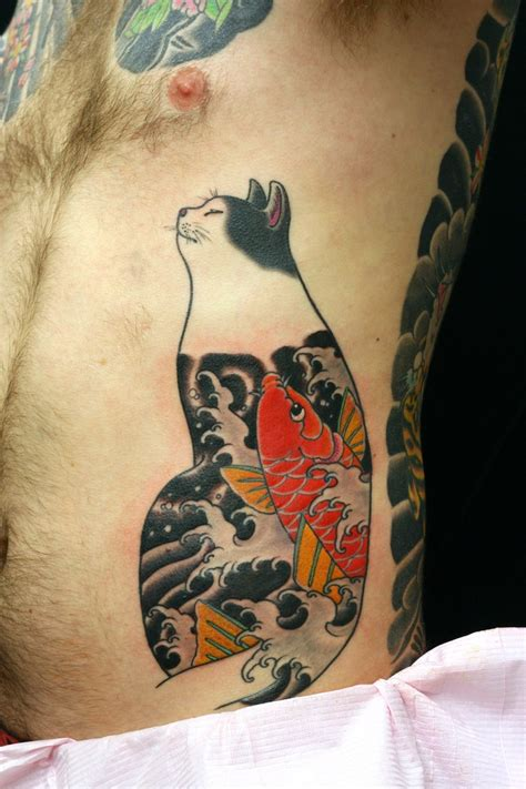tattoo cat japanese cat tattoo horitomo sydney tattoos jpg