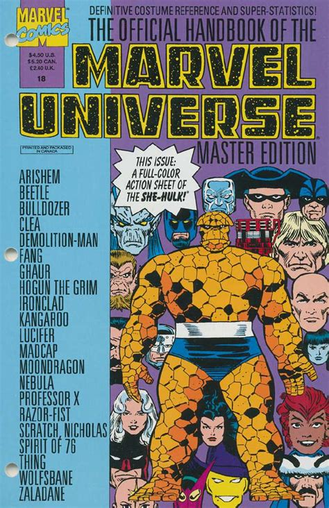 Master Vol 6 1 official handbook of the marvel universe master edition