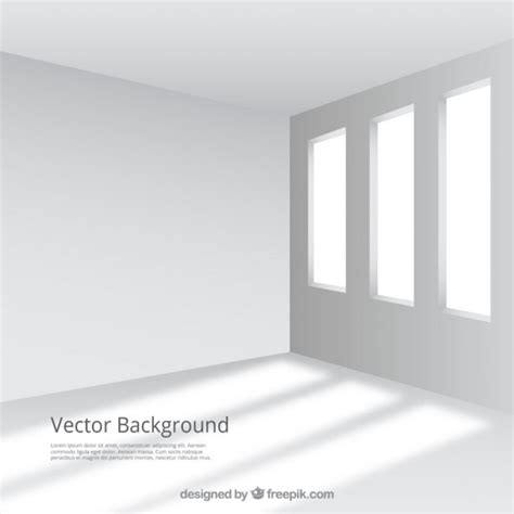 white room empty and white room with windows vector free