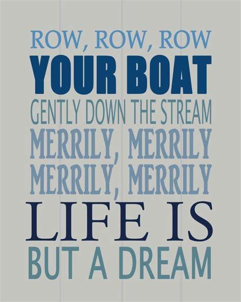 preposition song row row row your boat row row row your boat nursery wall art by