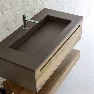 mobile porta lavabo sospeso con lavabo effetto resina arbi