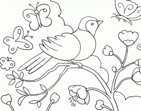 imagenes para pintar sobre la primavera animales en primavera dibujalia dibujos para colorear