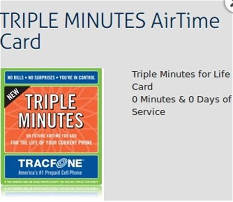 Tracfone Gift Card - triple minutes for life now available for any tracfone prepaid phone news