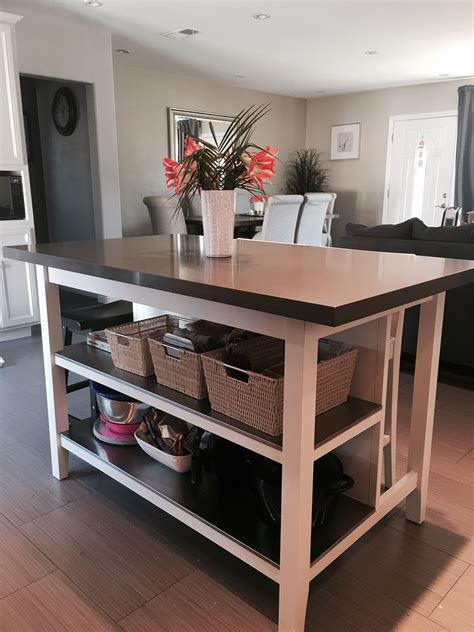 ikea stenstorp kitchen island hack  loved  island
