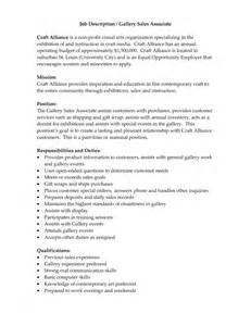 retail sales associate resume description sles of