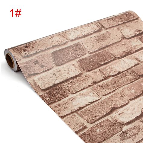 Wallpaper Sticker Motif 10m D750 45cm 10m self adhesive waterproof wall paper decor 3d wallpaper brick pattern 11street