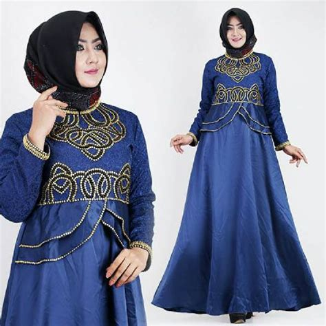Talita Navy baju muslim pesta new talita satin