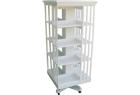 library revolving carousel bookcase furniture