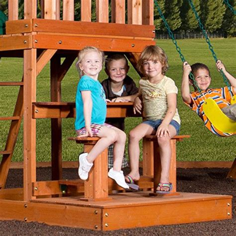 Backyard Discovery Independence Swing Set by Backyard Discovery Independence All Cedar Wood Playset