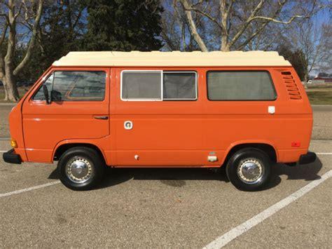 volkswagen van original interior 1980 vw vanagon westfalia camper bus with 44k miles all