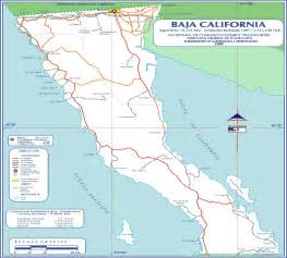 baja california mexico map