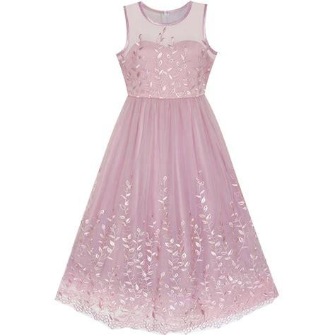 Dress Fashion Flower 4 fashion flower dress purple embroidery floral wedding bridesmaid 2018 summer