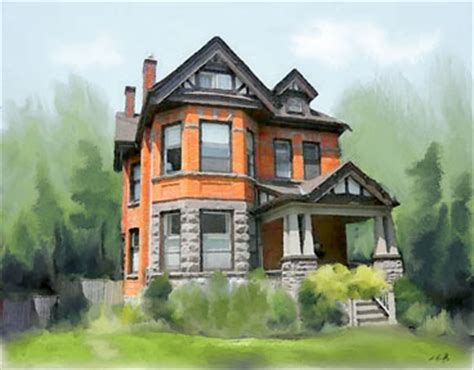 House Portrait Artist | custom house portrait paintings of your home hamilton ontario