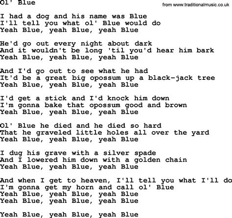 song lyrics willie nelson willie nelson song ol blue lyrics
