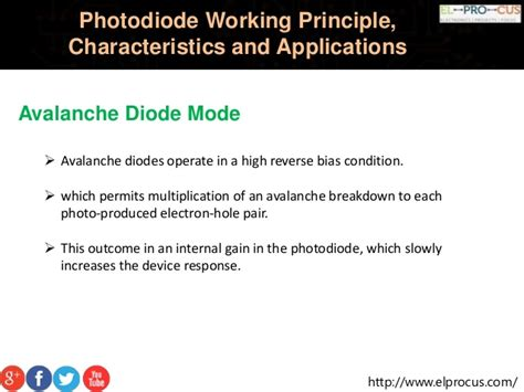 avalanche diode principle photodiode working principle characteristics and applications