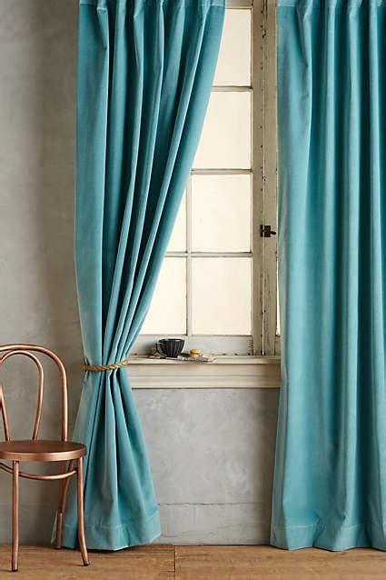 Teal Velvet Curtains Matte Teal Velvet Curtain