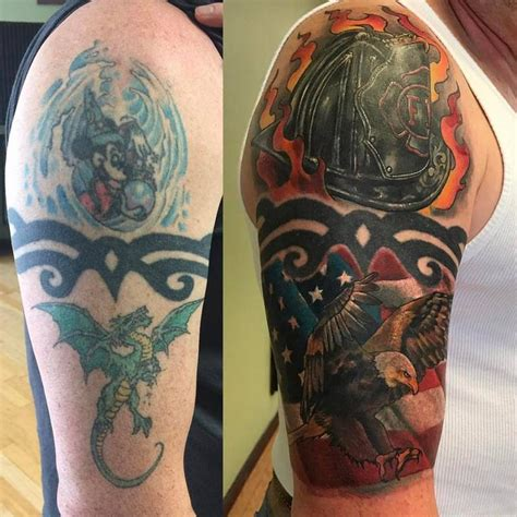 big cover up tattoos cover up magic by chad pelland tattoonow