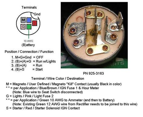 3497644 ignition switch wiring diagram on for bolens lawn