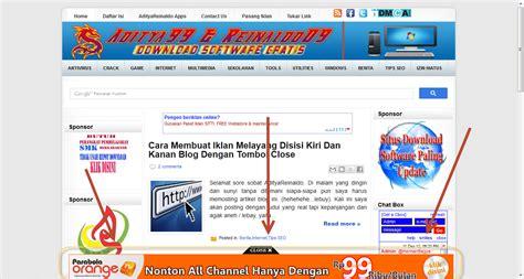 membuat iklan melayang cara membuat iklan melayang di bagian bawah blog dengan