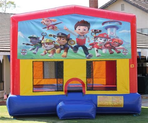 paw patrol big banner bounce house bounce houses jumper