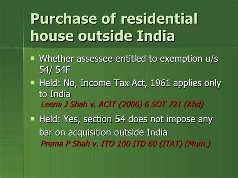 section 46 income tax act real estate