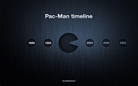 pac man timeline wallpaper celebrating pac mans