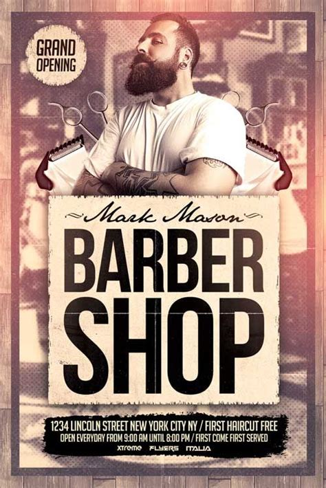 Free Barber Shop Website Template Free Barber Shop Flyer Template Http Xtremeflyers Com Free Barber Shop Flyer Template Free