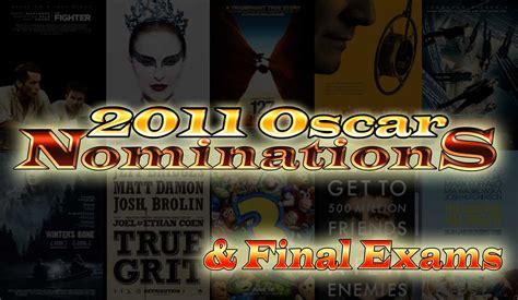 film oscar nominations 2011 oscars and exams the charter tech tv film dept