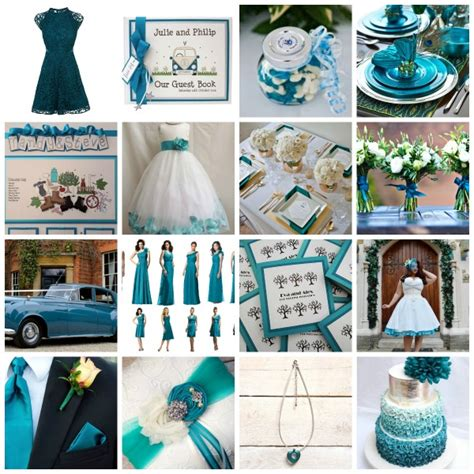 a teal wedding theme moodboard and styling ideas