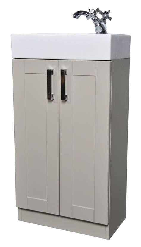 grey green shaker 450mm cloakroom bathroom vanity unit