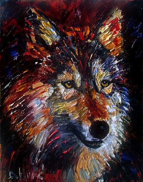 Debra Hurd Original Paintings And Jazz Art Wolf Wild Animal Art Original Oil Paintings Animal Animal Painting For