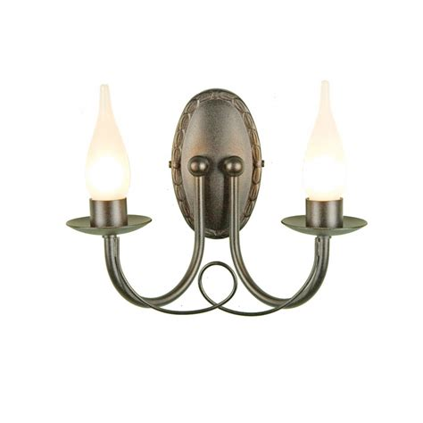 Black Bathroom Wall Sconces Bathroom Wall Light In Black Finish With 2 Candle