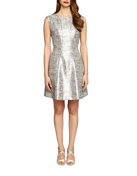 Metallic Dresses tahari by arthur s levine textured metallic dress in